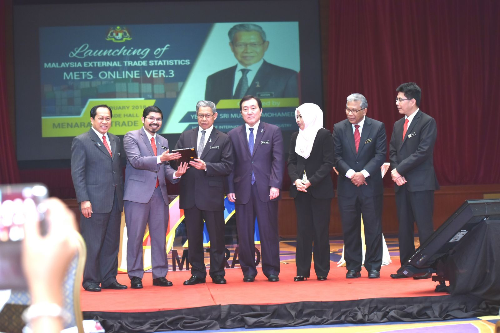 Launching of Malaysia External Trade Statistics, METS Online Ver.3